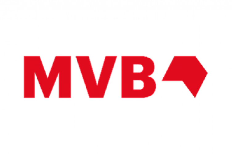 MVB Logo in roter Schrift